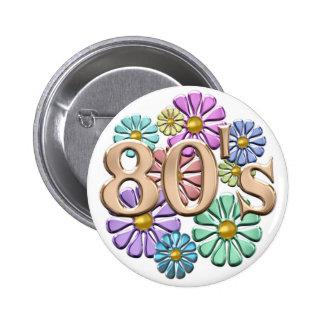 80s Retro 2 Inch Round Button