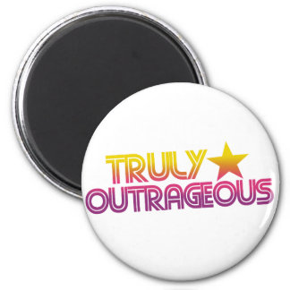 80s Retro Cartoon Truly outrageous Magnet