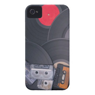80's Retro Cassette Tapes and Vinyl Records iPhone 4 Cases