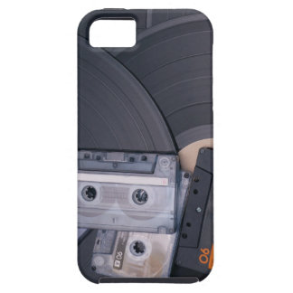 80's Retro Cassette Tapes and Vinyl Records iPhone 5 Case