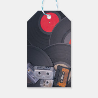 80's Retro Cassette Tapes and Vinyl Records Pack Of Gift Tags