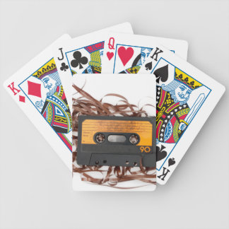 80's Retro Design - Audio Cassette Tape Bicycle Playing Cards