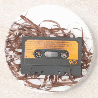 80's Retro Design - Audio Cassette Tape Coaster