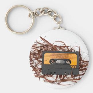 80's Retro Design - Audio Cassette Tape Keychain