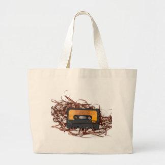 80's Retro Design - Audio Cassette Tape Large Tote Bag