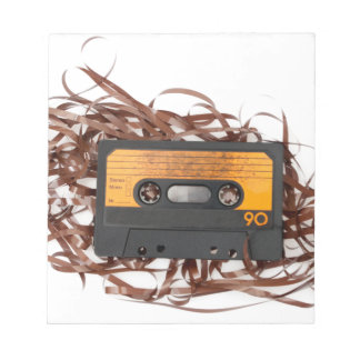 80's Retro Design - Audio Cassette Tape Notepad