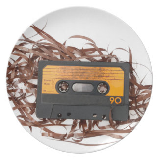 80's Retro Design - Audio Cassette Tape Plate