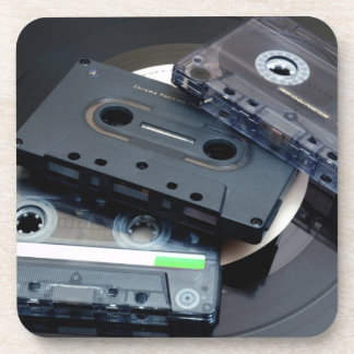 80's Retro Design - Audio Cassette Tapes Coaster