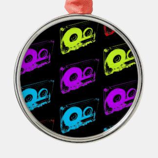 80's Retro Design - Audio Cassette Tapes Metal Ornament