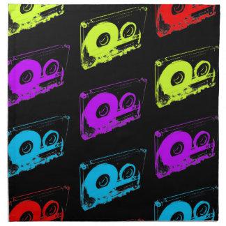 80's Retro Design - Audio Cassette Tapes Napkin