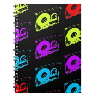 80's Retro Design - Audio Cassette Tapes Notebook