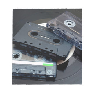 80's Retro Design - Audio Cassette Tapes Notepad