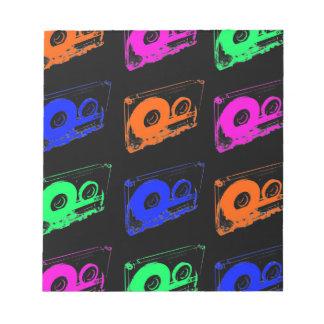 80's Retro Design - Audio Cassette Tapes Notepad