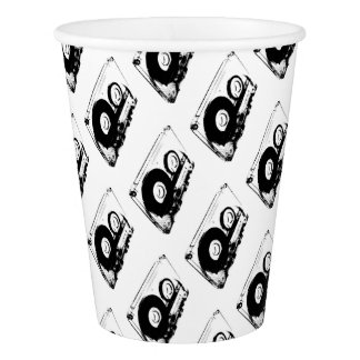 80's Retro Design - Audio Cassette Tapes Paper Cup