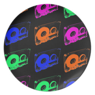 80's Retro Design - Audio Cassette Tapes Plate