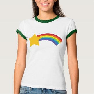 80's Retro Pop Rainbow Shooting Star T-Shirt