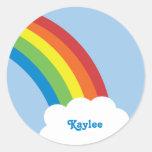 80's Retro Rainbow Name Stickers