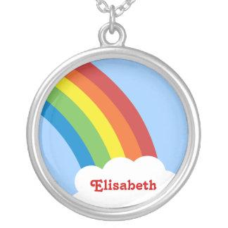 80's Retro Rainbow Personalized Necklace