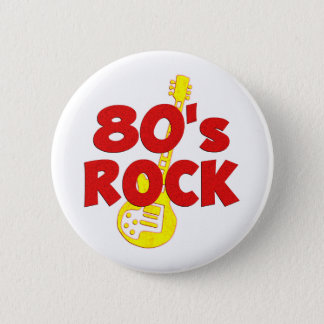 80s Rock 2 Inch Round Button