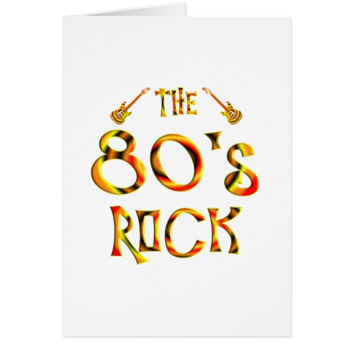 80's Rock Cards