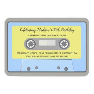 80s Theme Retro Cassette Tape Birthday Invitation