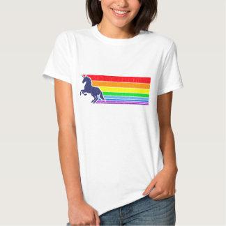 '80s Vintage Unicorn Rainbow (distressed look) Tshirts