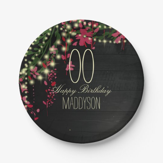 80th 85th 90th 91st 92nd 97th 98th 99th Birthday 7 Inch Paper Plate