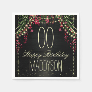 80th 85th 90th 91st 92nd 97th 98th 99th Birthday Disposable Napkin