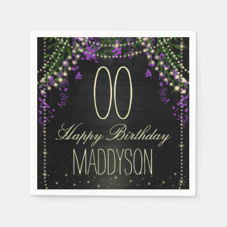 80th 85th 90th 91st 92nd 97th 98th 99th Birthday Disposable Napkins