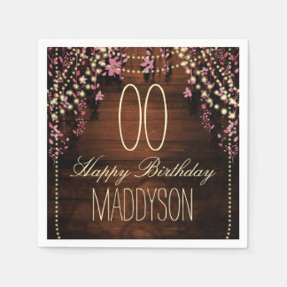 80th 85th 90th 91st 92nd 97th 98th 99th Birthday Paper Napkins