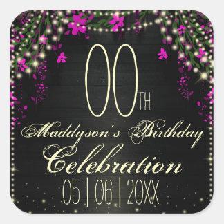 80th 85th 90th 91st 92nd 97th 98th 99th Birthday Square Sticker