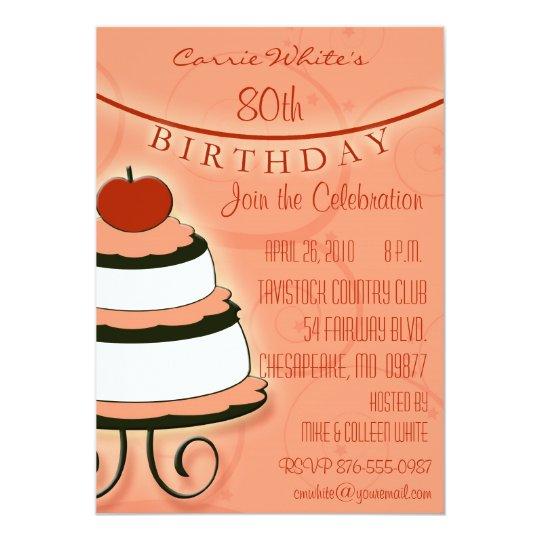 80th - 89th Birthday Party Invitations