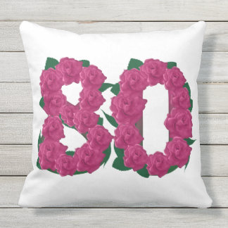 80th Anniversary Outdoor Throw Pillow