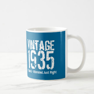 80th Birthday 1935 or ANY YEAR Blue White M35A Coffee Mug
