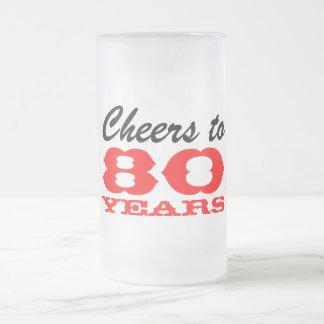 80th Birthday Beer Glass | Gift Mug for men