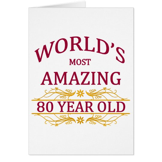 80th. Birthday Card