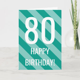 80th Birthday Card For 80 Years Old Men Or Women