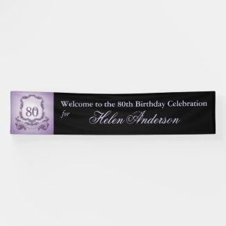 80th Birthday Celebration Custom outdoor Banner