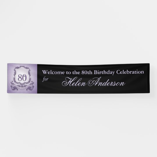 80th Birthday Celebration Custom outdoor Banner