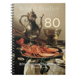 80th Birthday Celebration Customizable Guest Book