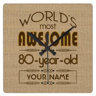 80th Birthday Celebration World Best Fabulous Clock