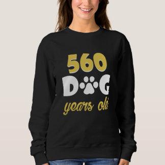 80th Birthday Costume For Dog Lover. Sweatshirt