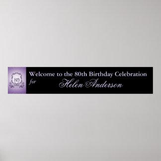 80th Birthday Custom Banner Poster 60x11
