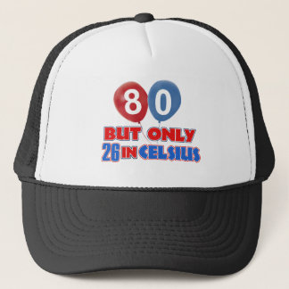 80th birthday designs trucker hat