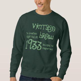80th Birthday Gift 1933 Vintage Brew Name For Him Sweatshirt