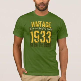 80th Birthday Gift Best 1933 Vintage T-Shirt