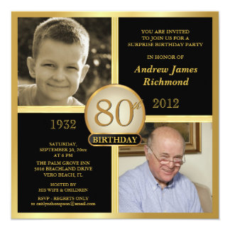 80th Birthday Invitations & Announcements | Zazzle Canada