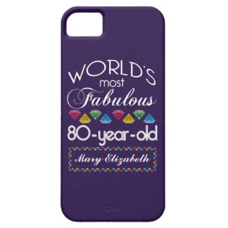 80th Birthday Most Fabulous Colorful Gems Purple iPhone 5/5S Case