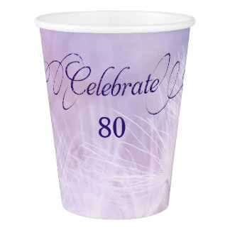 80th Birthday Party Custom Paper Cups Paper Cup