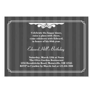 80th Birthday Party Elegant Invitation